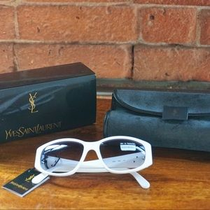 Vintage Sunglasses in White by Yves Saint Laurent